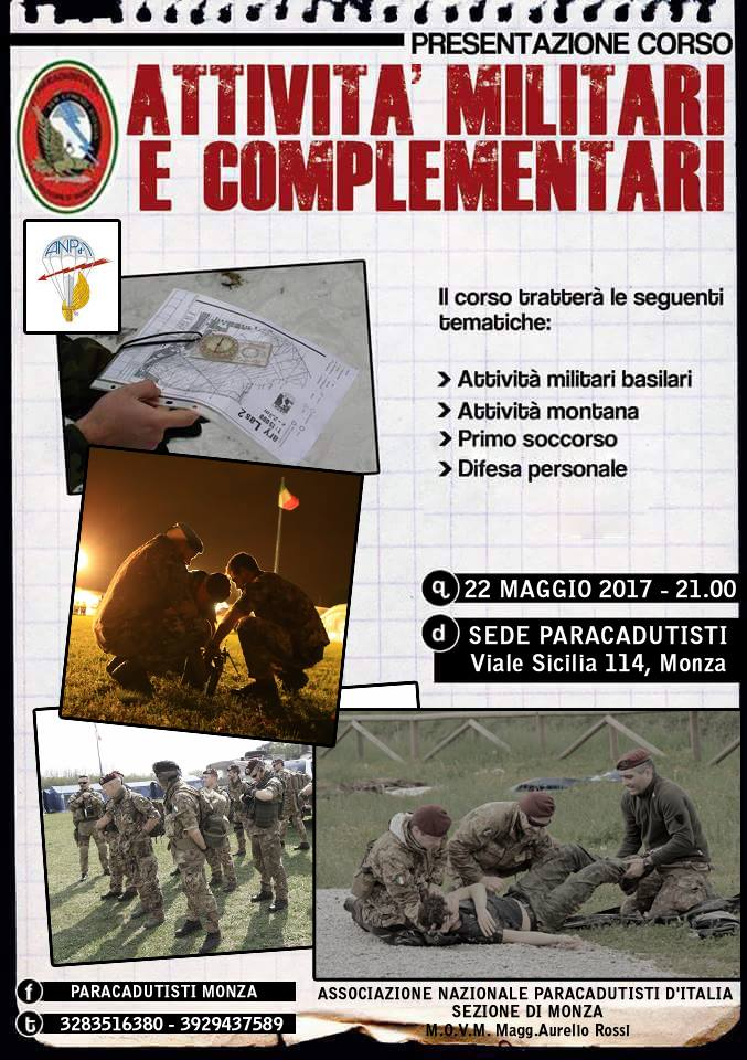 Presentazione corso Attività Militari e Complementari