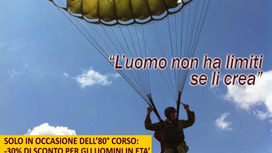 Presentazione del 80° corso di paracadutismo sotto controllo militare