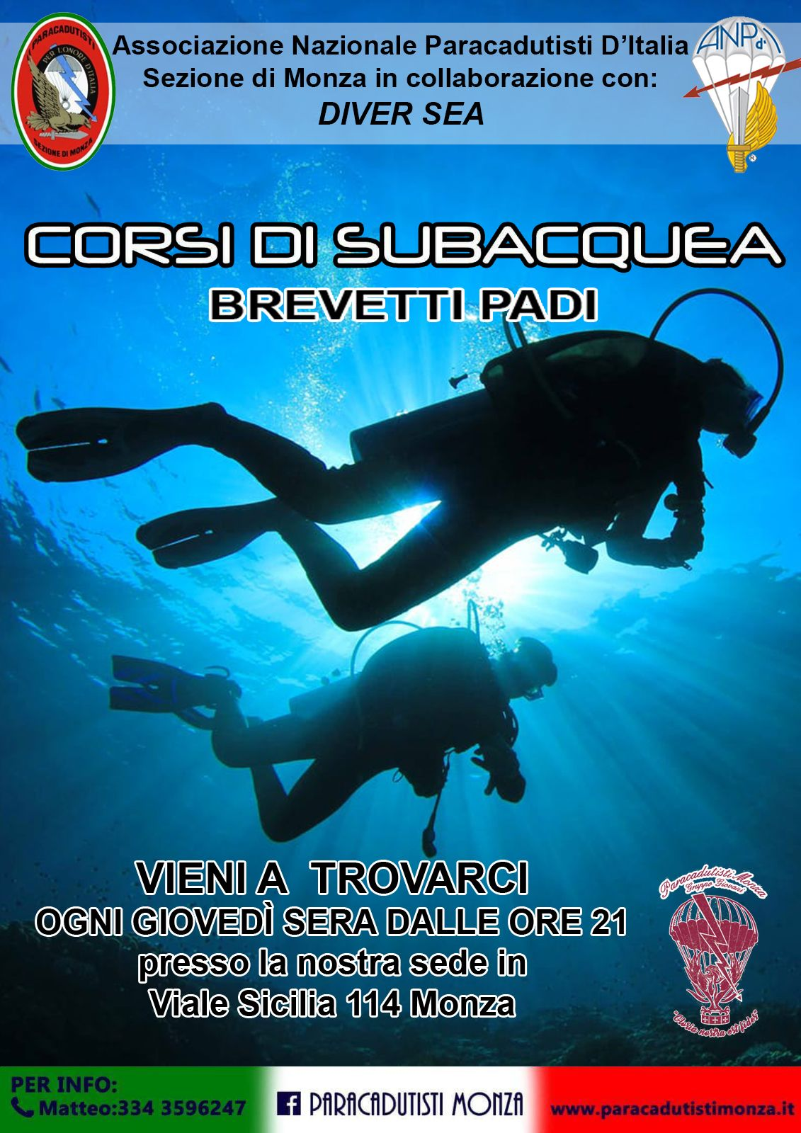 Subaquea – Brevetto PADI in collaborazione con Diver Sea