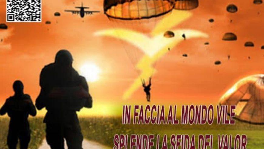 Presentazione del 84° corso di paracadutismo sotto controllo militare